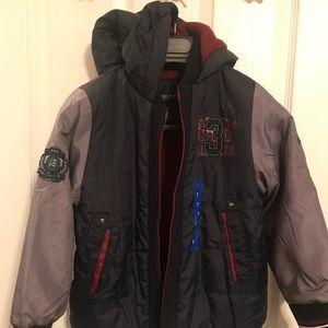 Other - New boy's London Fog Hooded Jacket. Navy Blue Gray